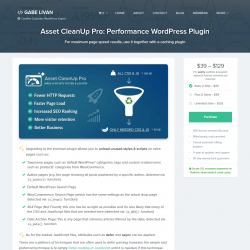Page screenshot: Asset CleanUp → Go Pro