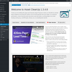 Page screenshot: Asset CleanUp →  Video Tutorials