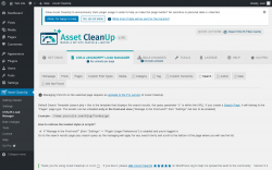 Page screenshot: Asset CleanUp → CSS/JS Load Manager →  Search