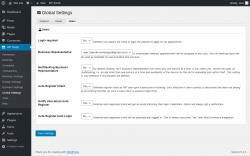 Page screenshot: WP BASE → Global Settings → Users