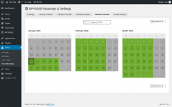 Page screenshot: Users → Your Bookings → 3 Months Schedule