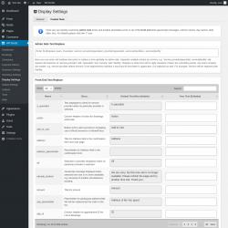 Page screenshot: WP BASE → Display Settings → Custom Texts