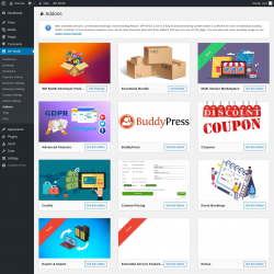 Page screenshot: WP BASE → Addons