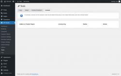 Page screenshot: WP BASE → Tools → Licenses