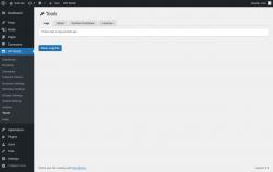 Page screenshot: WP BASE → Tools