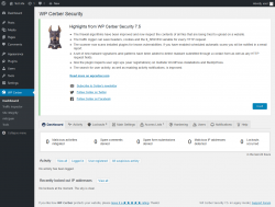 Page screenshot: WP Cerber