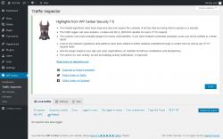 Page screenshot: WP Cerber → Traffic Inspector