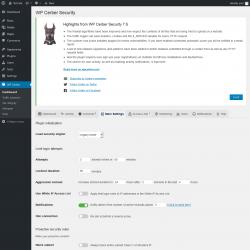 Page screenshot: WP Cerber →  Main Settings