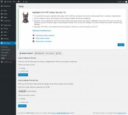 Page screenshot: WP Cerber → Tools