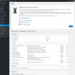 Page screenshot: WP Cerber → Tools →  Diagnostic