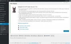 Page screenshot: WP Cerber → Site Integrity →  Quarantine
