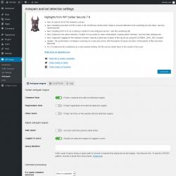 Page screenshot: WP Cerber → Antispam