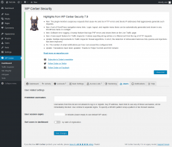 Page screenshot: WP Cerber →  Users