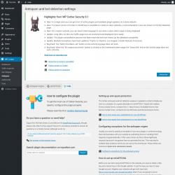 Page screenshot: WP Cerber → Antispam →  Help