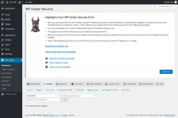 Page screenshot: WP Cerber →  Activity