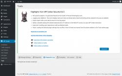 Page screenshot: WP Cerber → Tools →  Diagnostic Log