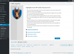 Page screenshot: WP Cerber → Traffic Inspector