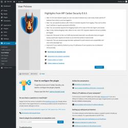Page screenshot: WP Cerber → User Policies →  Help