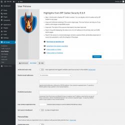 Page screenshot: WP Cerber → User Policies →  Global