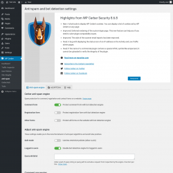 Page screenshot: WP Cerber → Anti-spam