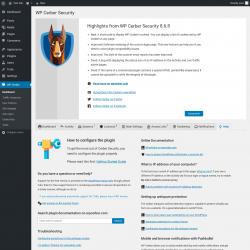 Page screenshot: WP Cerber →  Help