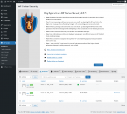 Page screenshot: WP Cerber →  Sessions 2