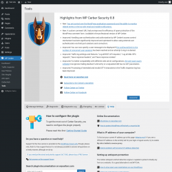 Page screenshot: WP Cerber → Tools →  Help