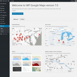 Page screenshot: WPGoogle Maps ‹ Test site — WordPress