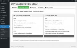 Page screenshot: WP Google Reviews → Get Google Reviews