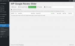Page screenshot: WP Google Reviews → Reviews List