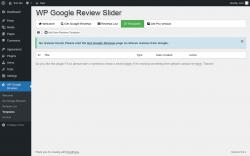 Page screenshot: WP Google Reviews → Templates
