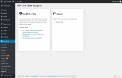 Page screenshot: Live Chat → Support