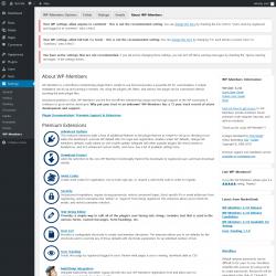 Page screenshot: Settings  → WP-Members → About WP-Members