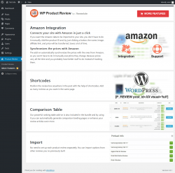 Page screenshot: Product Review → More Features