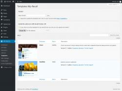 Page screenshot: WP-RECALL → Templates
