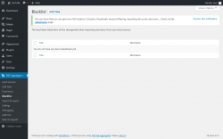Page screenshot: RSS Aggregator → Blacklist