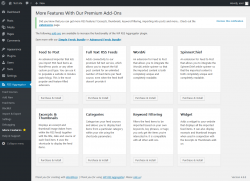 Page screenshot: RSS Aggregator → More Features