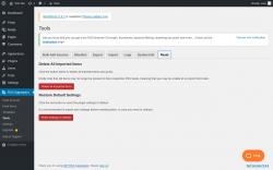 Page screenshot: RSS Aggregator → Tools →                  Reset