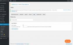 Page screenshot: RSS Aggregator → Tools →                  Logs