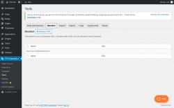 Page screenshot: RSS Aggregator → Tools →                  Blacklist