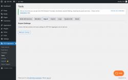 Page screenshot: RSS Aggregator → Tools →                  Export