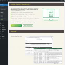 Page screenshot: WP Activity Log → Reports ⇪