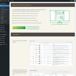 Page screenshot: WP Activity Log → Search ⇪