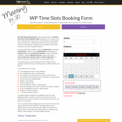 Page screenshot: WP Time Slots Booking Form → Online Demo