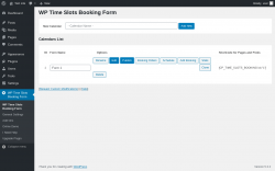 Page screenshot: WP Time Slots Booking Form Options ‹ Test site — WordPress