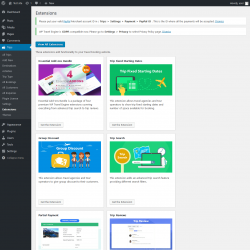 Page screenshot: Trips → Extensions