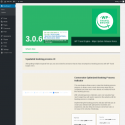 Page screenshot: WP Travel Engine - Welcome ‹ Test site — WordPress