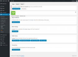 Page screenshot: User Frontend → Tools
