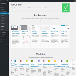Page screenshot: User Frontend → Premium