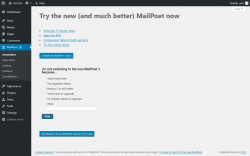 Page screenshot: MailPoet